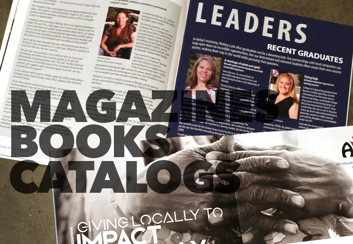 Magazines, Book, Catalogs